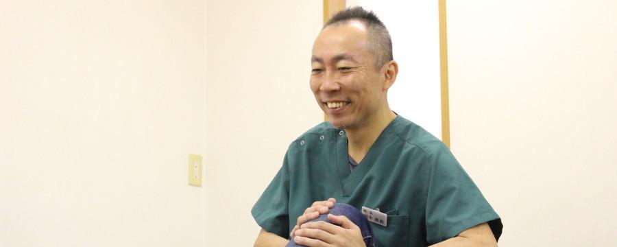 笑顔で施術